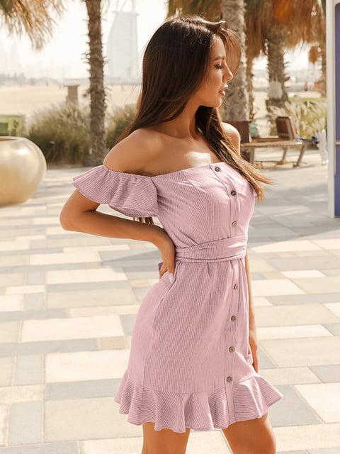 Платье розовое в полоску Gepur 5124441