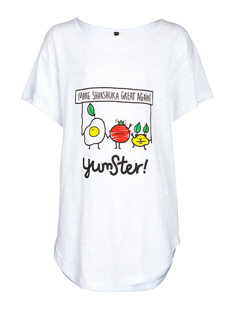 Футболка белая с принтом Yumster 5124740