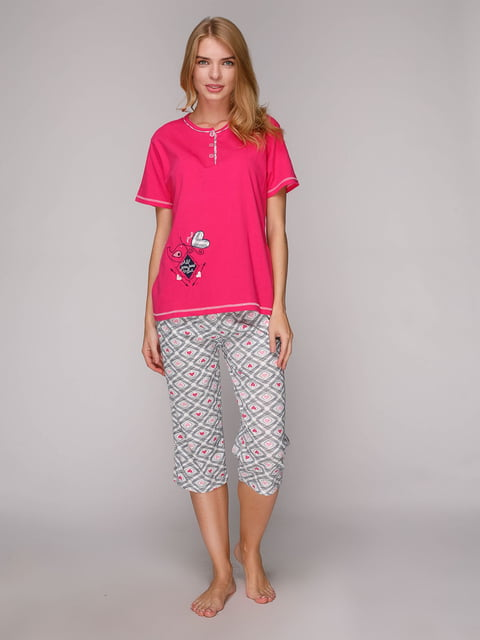 Пижама: футболка и капри ADALYA 5128123