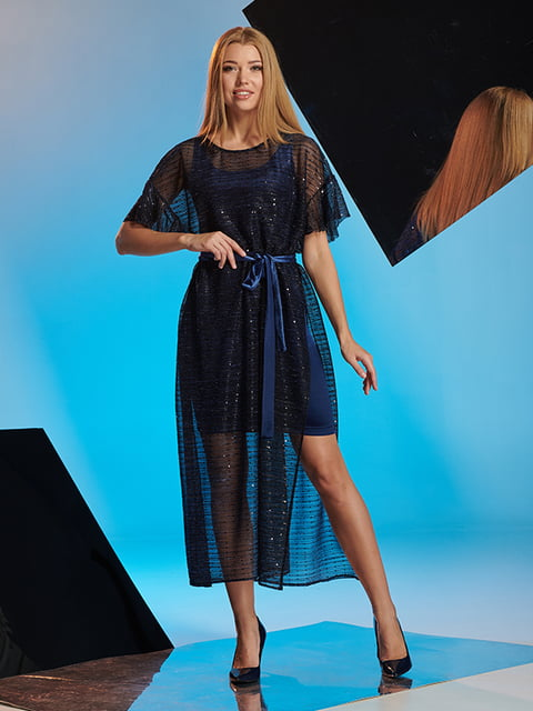 Платье синее Lesya 5109896