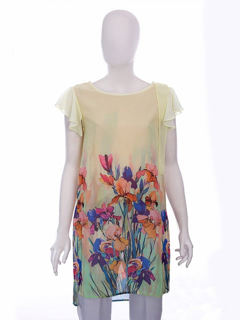 Блуза желтая в цветочный принт Lesya 5114063