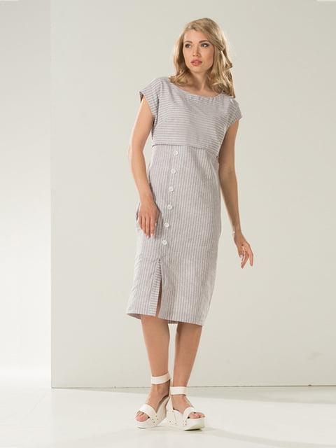 Сукня сіра в смужку Lesya 5120739