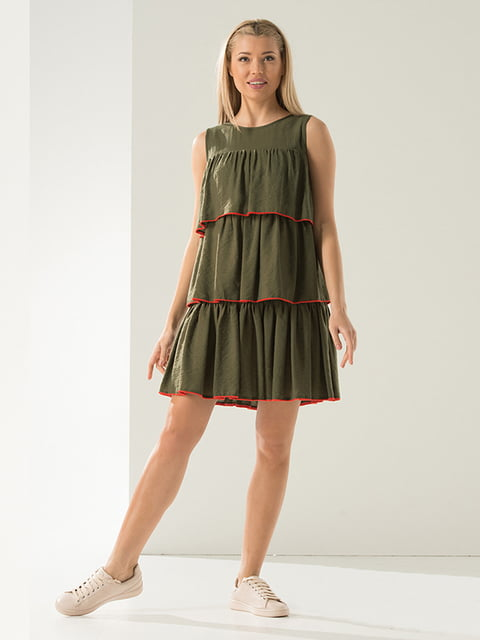 Платье цвета хаки Lesya 5125137