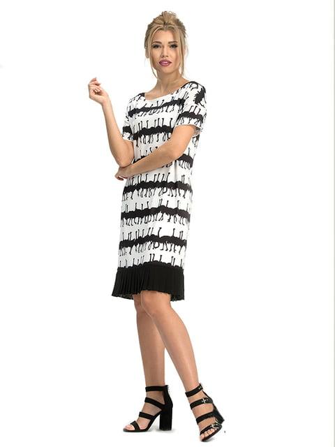 Платье белое с принтом Lesya 5125142