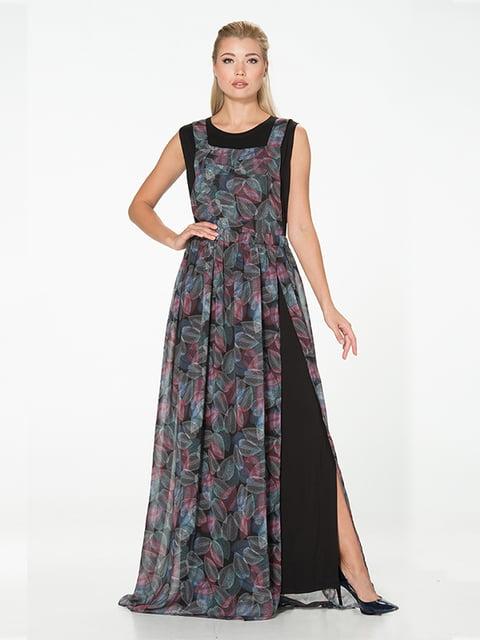 Платье черно-серое Lesya 5129062