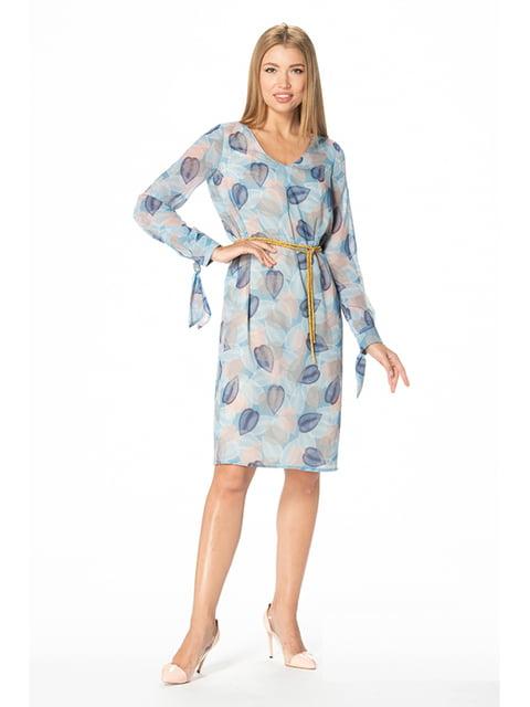 Сукня блакитна з принтом Lesya 5129063