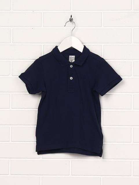 Футболка-поло темно-синя H&M 5135579
