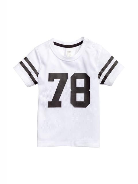 Футболка белая с принтом H&M 5135753