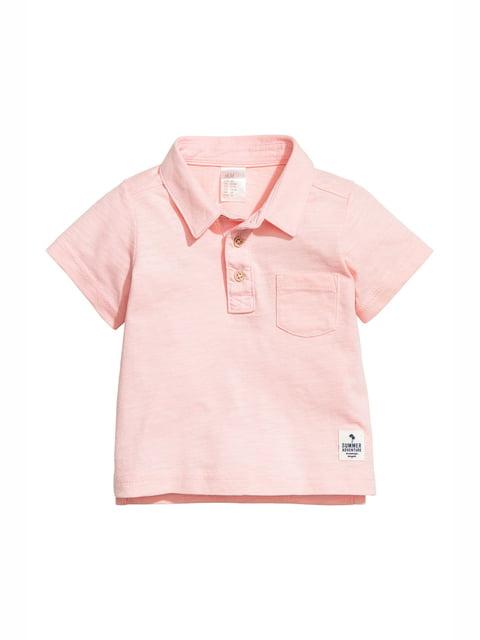 Футболка-поло світло-рожева H&M 5134858