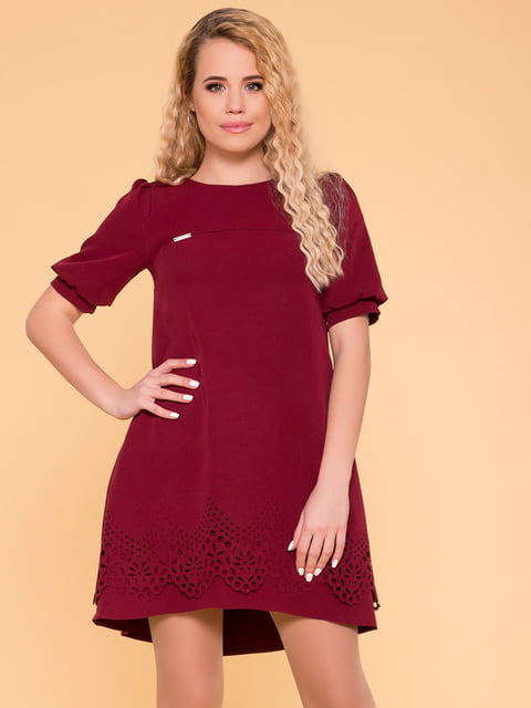 Сукня кольору марсала Modus 4936802