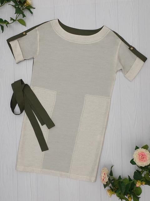 Платье цвета хаки Lesya 5116037
