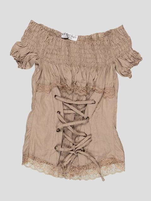 Блуза бежевая Vivien 4418379
