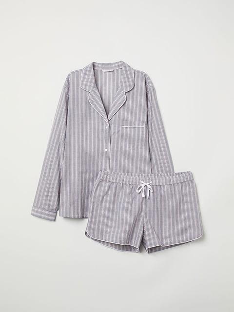 Пижама: рубашка и шорты H&M 5113159
