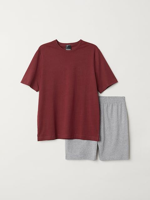 Пижама: футболка и шорты H&M 5113164