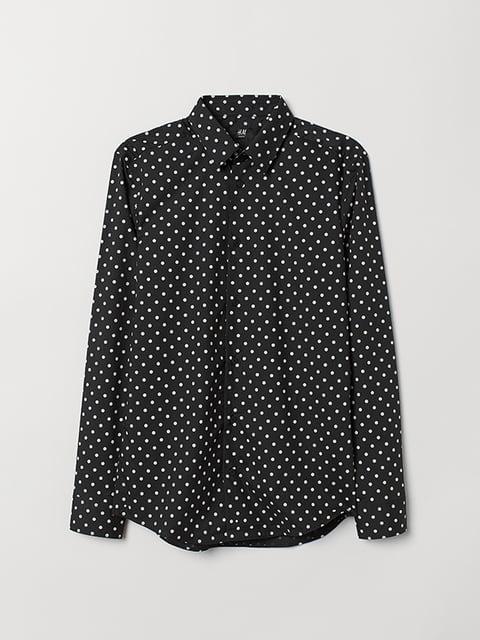 Рубашка черная в горошек H&M 5113250