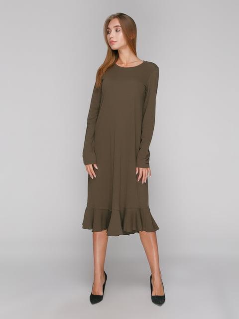 Платье цвета хаки Zara 3270398