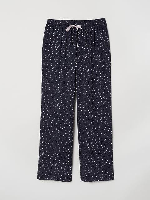 Брюки пижамные синие H&M 5112685