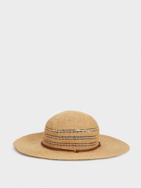 Шляпа бежевая Parfois 5137440
