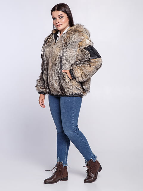 Полушубок серый Irbis-furs 5141459