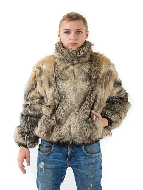 Полушубок серый Irbis-furs 5141464