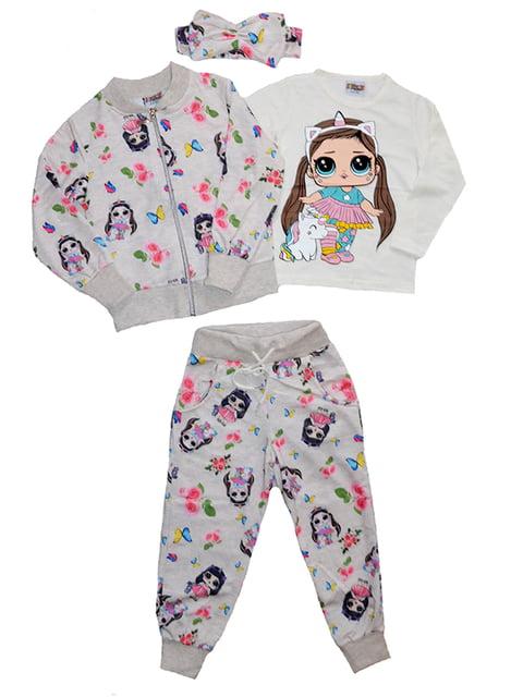 Комплект: лонгслив, кофта, брюки и повязка на голову Payes 5142773