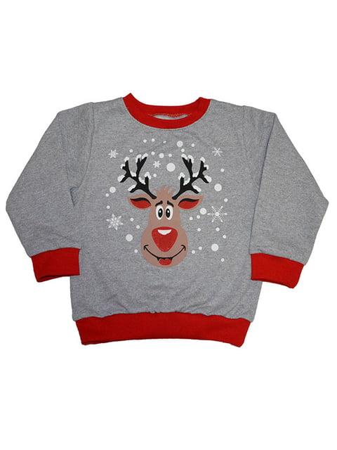 Світшот сірий новорічний Sweet Hats 5142789
