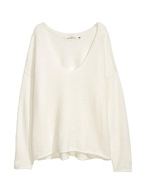 Пуловер белый H&M 5132693