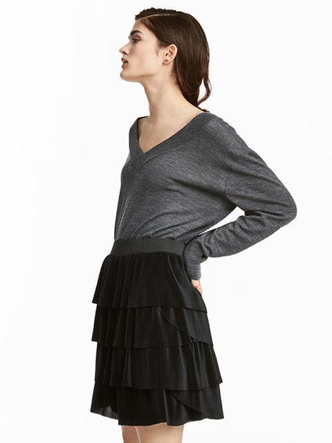 Пуловер темно-серый H&M 5133507