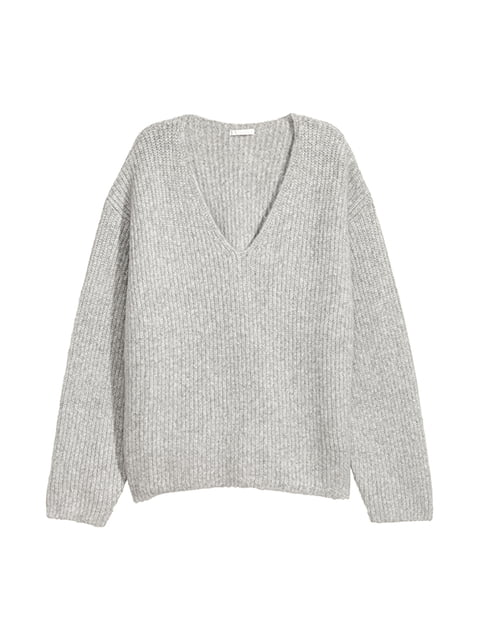 Пуловер серый H&M 4938472
