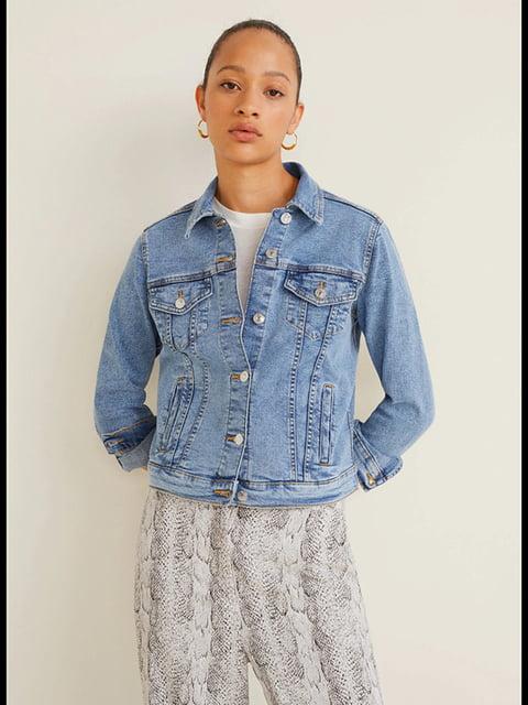 Куртка джинсовая голубая Mango 5139992