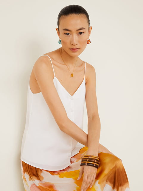 Блуза белая Mango 5140044
