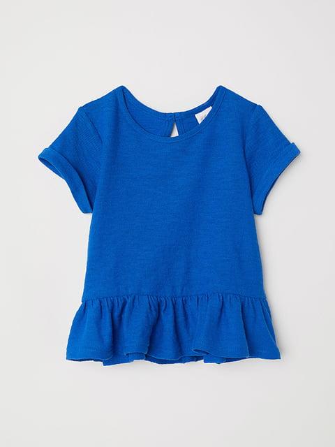 Футболка синя H&M 5148482