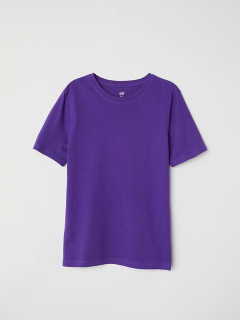 Футболка фиолетовая H&M 5148278