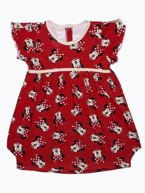 Платье красное с принтом Малыш 5151451