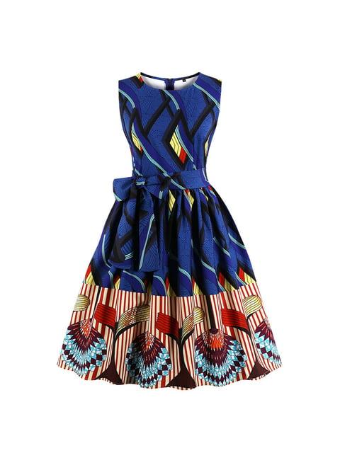 Платье синее в принт Mixinni 5154007