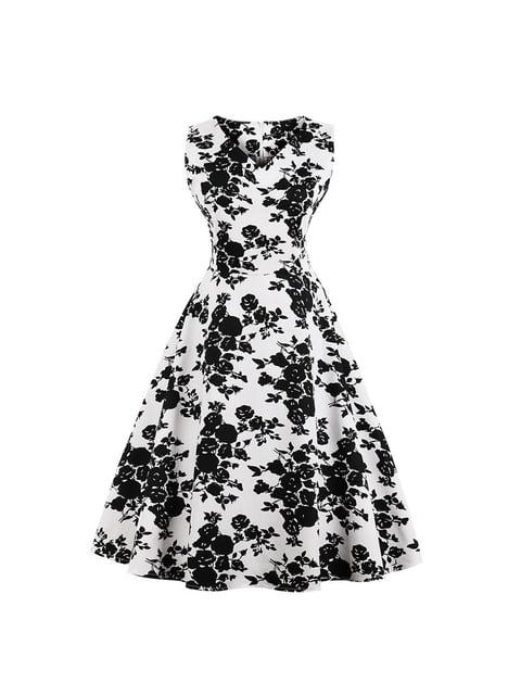 Сукня біла в принт Mixinni 5154023