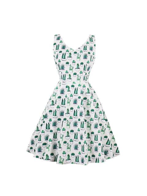 Сукня біла в принт Mixinni 5154041