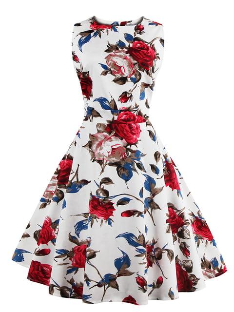 Сукня біла в квітковий принт Mixinni 5154089