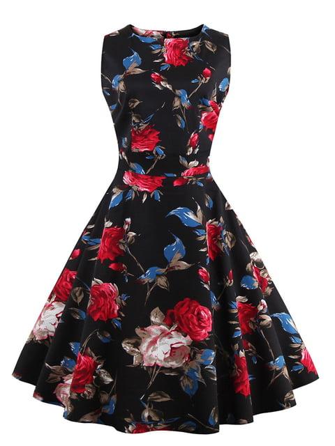Сукня чорна в квітковий принт Mixinni 5154090