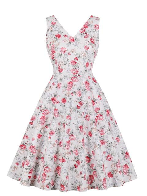 Сукня біла в квітковий принт Mixinni 5154175