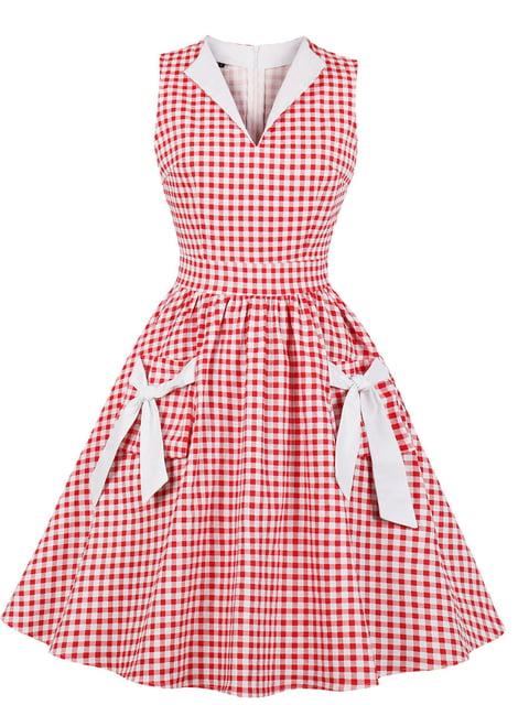 Сукня червона в клітинку Mixinni 5154217