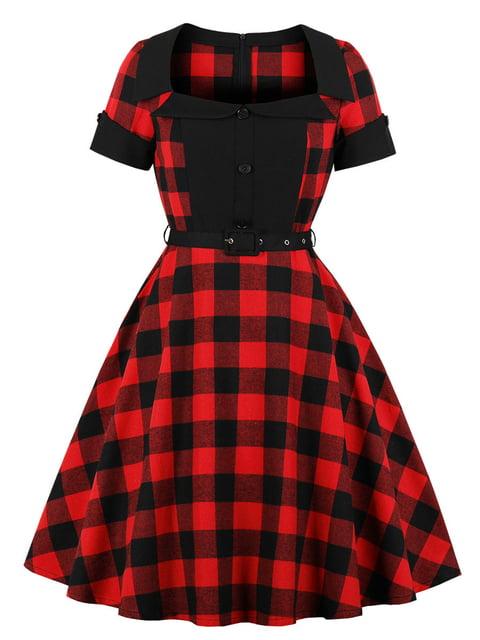 Сукня червона в клітинку Mixinni 5154113