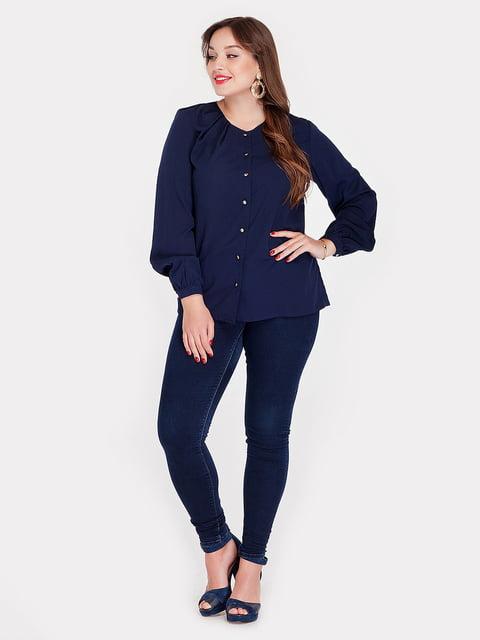 Блуза темно-синяя Peony 3747118