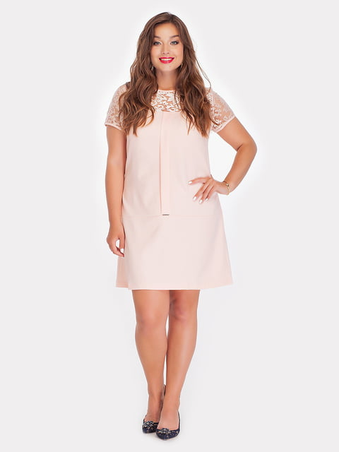 Платье персикового цвета Peony 4308127