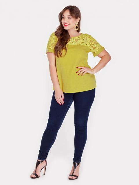 Блуза горчичного цвета Peony 5082164