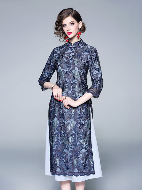 Платье синее Zeraco 5155221