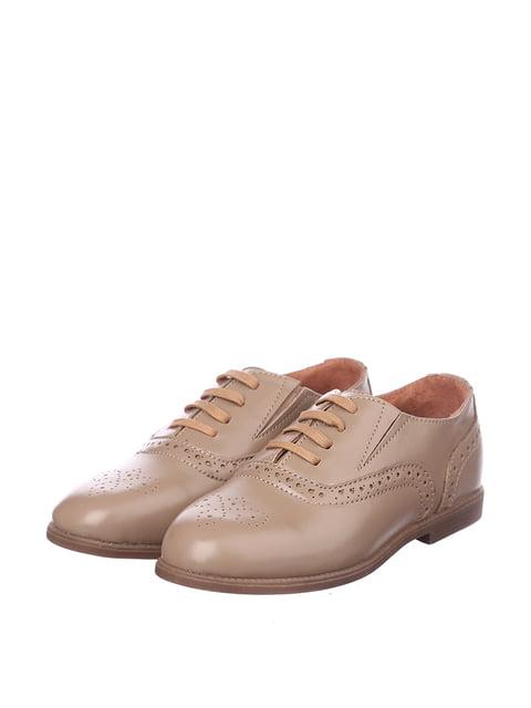 Туфлі кольору кави з молоком Broni 5155341