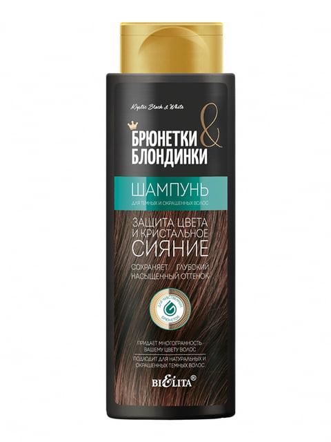 Шампунь для темных и окрашенных волос «Защита цвета и кристальное сияние» Bielita 5155410