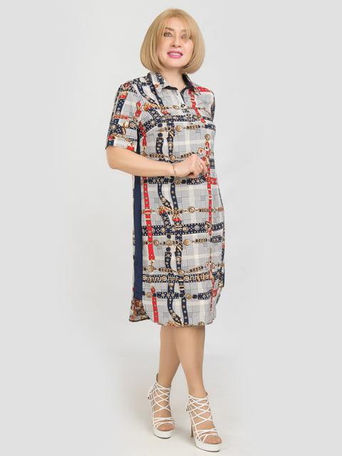 Платье серое в принт LibeAmore 5158746