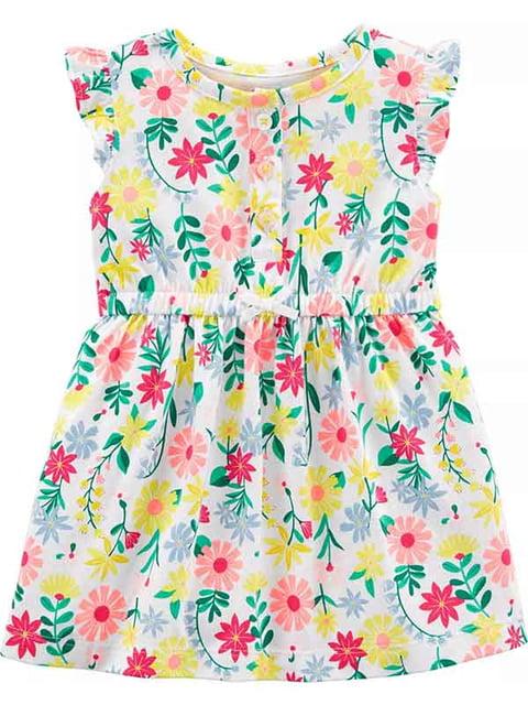 Платье белое в цветочный принт Carter's 5161192